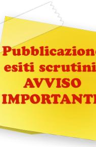 Pubblicazione esiti degli scrutini finali